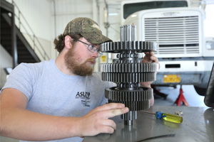 Arkansas State University - Newport Students working in the Diesel Program.