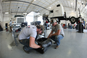 Arkansas State University - Newport Students working together in the Diesel Program.
